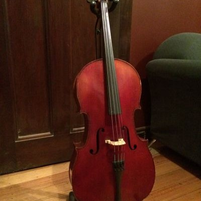 Beautiful Antique French ½ size 'Cello Label JTL